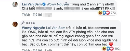 MC Lại Văn Sâm lên tiếng về ảnh chế khiến Wowy phấn khích như fanboy gặp thần tượng - Ảnh 2