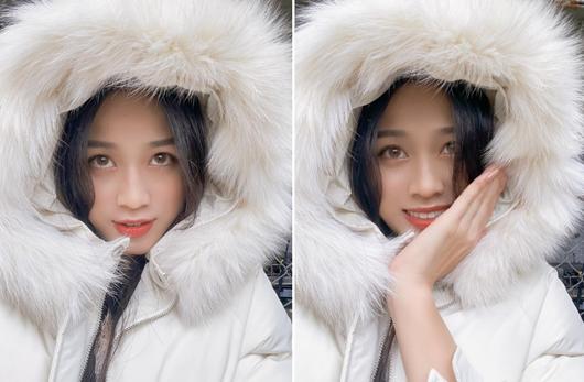Về trường Kinh tế Quốc dân để đi học trở lại, hoa hậu Đỗ Thị Hà khoe visual đẹp long lanh như công chúa tuyết - Ảnh 7