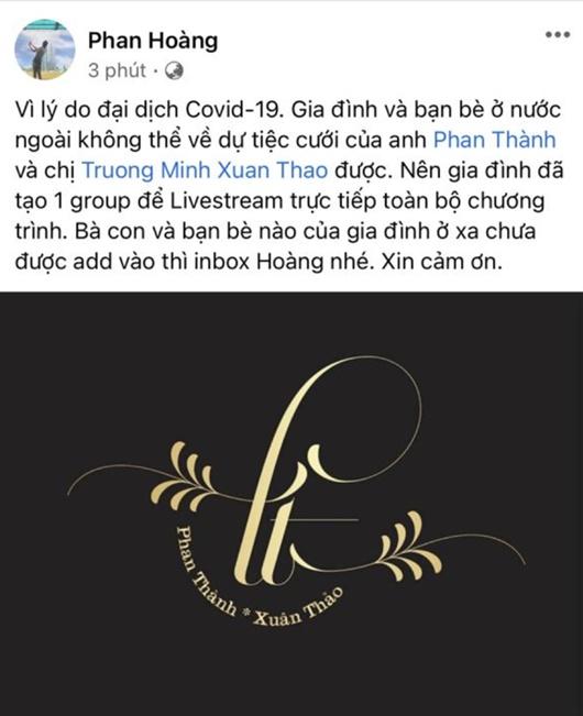 Tin tức giải trí mới nhất ngày 28/1: Đám cưới thiếu gia Phan Thành và Primmy Trương được livestream  - Ảnh 1