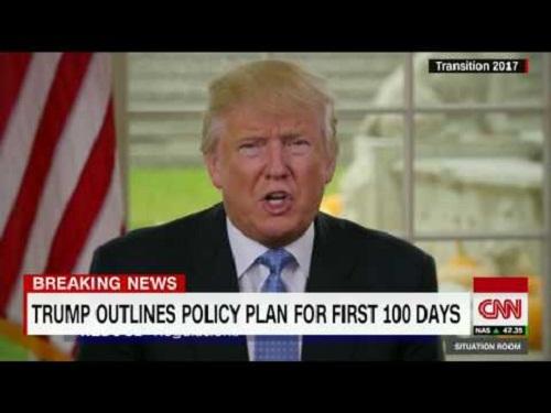 Donald Trump và kế hoạch chính thức cho 100 ngày đầu tiên sau nhậm chức - Ảnh 1