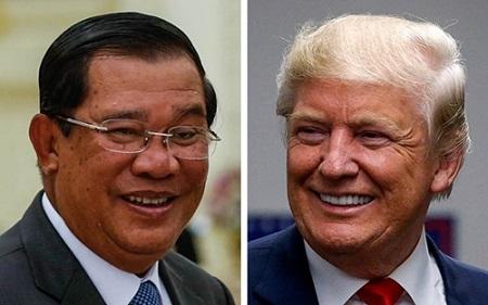 Thủ tướng Hun Sen muốn ông Donald Trump xóa nợ cho Campuchia - Ảnh 1