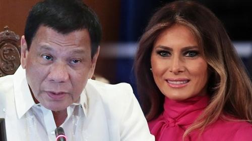 Tổng thống Philippines ghen tị với Donald Trump vì có vợ đẹp - Ảnh 1
