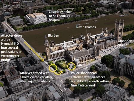 Xem lại những diễn biến chính của vụ khủng bố gần tòa nhà Quốc hội Anh - Ảnh 3
