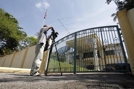 Cảnh sát vào Đại sứ quán Triều Tiên gặp nghi phạm trong vụ 'Kim Jong-nam' - Ảnh 1