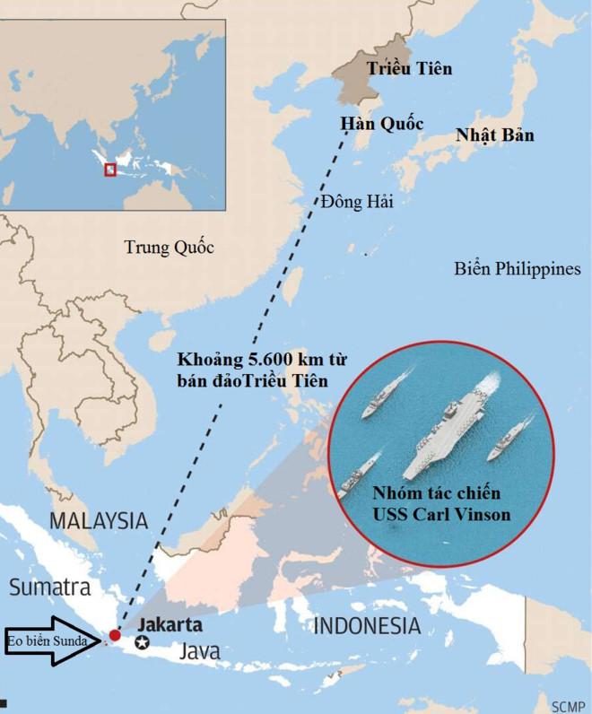 Tàu sân bay Mỹ hướng tới Triều Tiên nhưng lại đang ở gần Indonesia - Ảnh 2