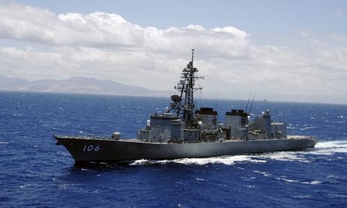 Tàu khu trục Nhật tập trận cùng tàu sân bay Mỹ đang tới Triều Tiên - Ảnh 1