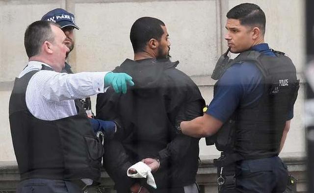Cảnh sát bắt giữ nghi phạm khủng bố mang dao gần dinh Thủ tướng Anh - Ảnh 1