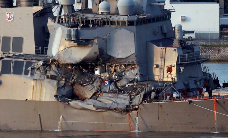 Phát hiện thi thể thủy thủ mất tích trong tàu khu trục Mỹ bị tàu hàng đâm trúng - Ảnh 1