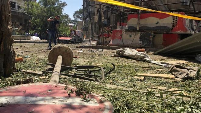 Nga chỉ trích vụ pháo kích Đại sứ quán nước này tại Syria - Ảnh 1