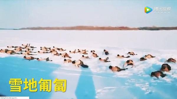 Lính Trung Quốc cởi trần giữa trời -30 độ C - Ảnh 2