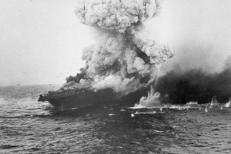 Phát hiện xác tàu sân bay Mỹ bị đánh chìm trong Thế chiến II - Ảnh 1