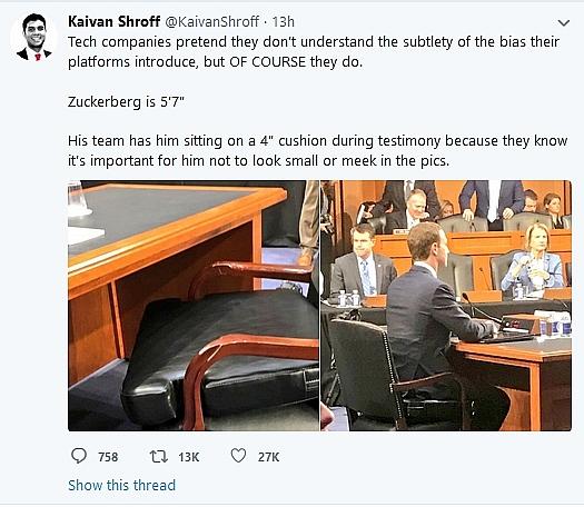 Cận cảnh bộ vest và ghế ngồi 'kì lạ' của CEO Facebook tại buổi điều trần trước quốc hội - Ảnh 3