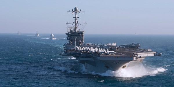 Cận cảnh tàu sân bay Mỹ điều đến Trung Đông giữa tình hình căng thẳng với Nga về Syria - Ảnh 1