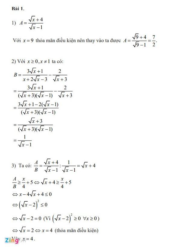 Gợi ý đáp án đề thi vào lớp 10 môn Toán Hà Nội 2018 - Ảnh 2