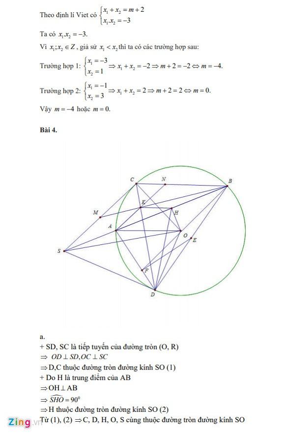 Gợi ý đáp án đề thi vào lớp 10 môn Toán Hà Nội 2018 - Ảnh 4