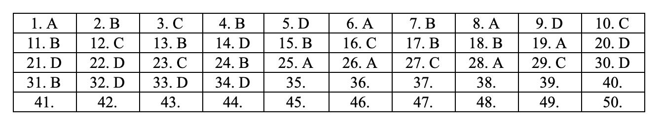 Đáp án môn Toán tất cả các mã đề THPT quốc gia 2019 chuẩn nhất, chính xác nhất (đầy đủ) - Ảnh 16