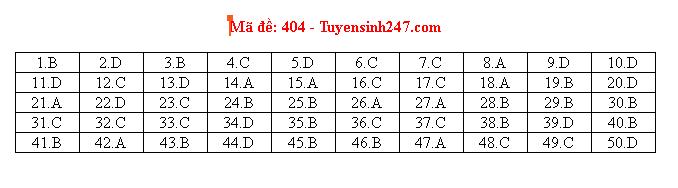 Tham khảo gợi ý đáp án tiếng Anh mã đề 404 THPT quốc gia 2019 - Ảnh 1