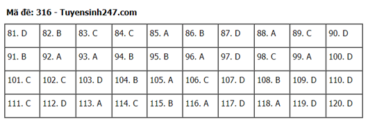 Đáp án, đề thi môn GDCD mã đề 316 tốt nghiệp THPT 2020 chuẩn nhất, chính xác nhất - Ảnh 1