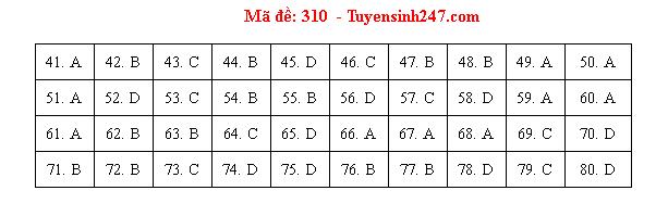 Gợi ý đáp án môn Địa lý mã đề 312- 311- 310 tốt nghiệp THPT 2020 - Ảnh 1