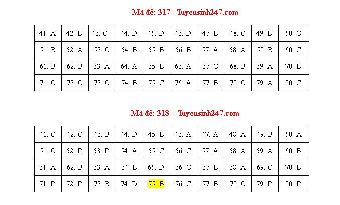 Gợi ý đáp án môn Địa lý mã đề 318- 317- 316 tốt nghiệp THPT 2020 - Ảnh 1