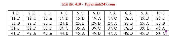 Gợi ý đáp án môn tiếng Anh mã đề 410-411-412 tốt nghiệp THPT 2020  - Ảnh 1
