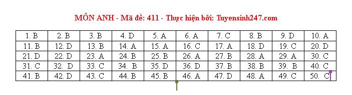 Gợi ý đáp án môn tiếng Anh mã đề 410-411-412 tốt nghiệp THPT 2020  - Ảnh 2