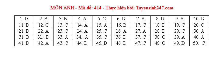Tham khảo đáp án môn tiếng Anh 24 mã đề tốt nghiệp THPT 2020 chuẩn nhất, chính xác nhất - Ảnh 14