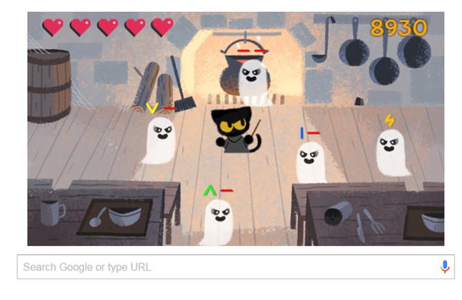 Google Search tung trò chơi diệt ma qủy nhân dịp Halloween - Ảnh 1