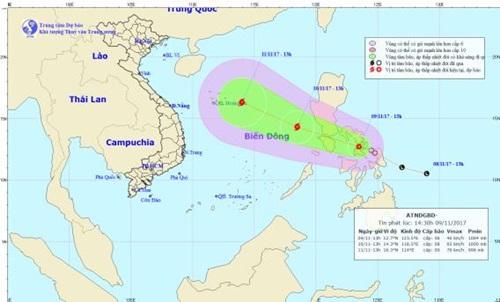 Dự báo thời tiết ngày 10/11: Áp thấp nhiệt đới có thể mạnh thành bão - Ảnh 1