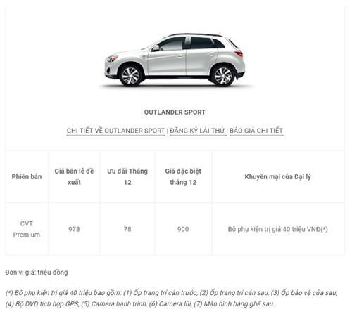 Bảng giá ô tô Mitsubishi mới nhất tháng 12 tại Việt Nam - Ảnh 7
