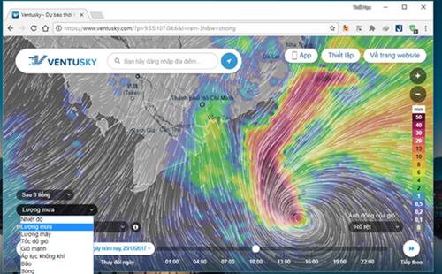 Theo dõi trực tiếp hướng di chuyển của bão Tembin qua ứng dụng Ventusky - Ảnh 1