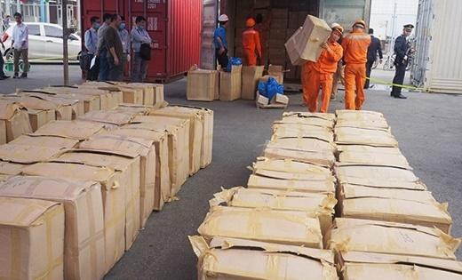 Hải Phòng tiêu hủy gần 5,6 tấn lá khát - Ảnh 1