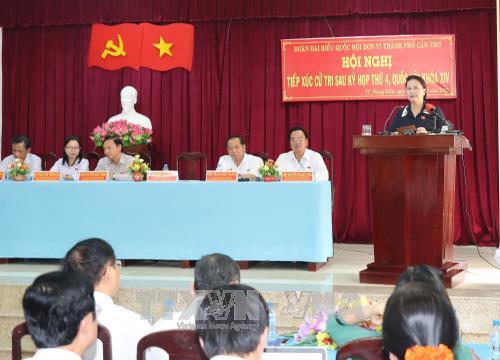 Chủ tịch Quốc hội giải đáp nhiều vấn đề 'nóng' về BOT, tham nhũng với cử tri Cần Thơ - Ảnh 1