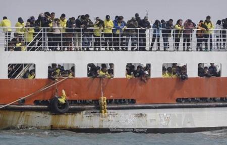 Hàn Quốc trục vớt được phà Sewol sâu gần 3 năm xảy ra thảm họa - Ảnh 1