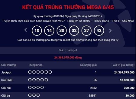 Kết quả xổ số điện toán Vietlott ngày 26/3: 12 tỷ đồng đang tìm chủ nhân - Ảnh 1