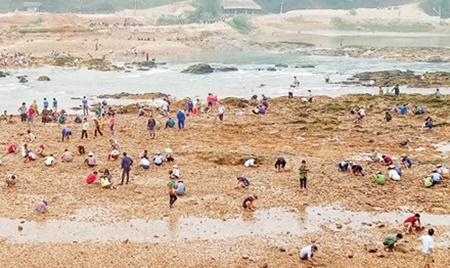Sau tin đồn tìm thấy đá quý, hàng trăm người bỏ đồng ra sông tìm vận may - Ảnh 1