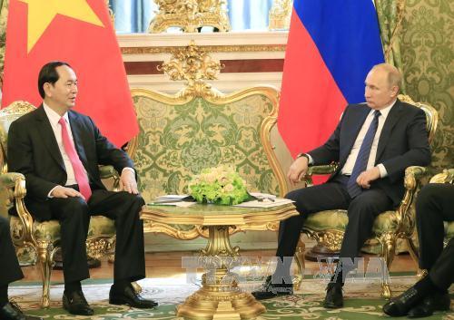Chủ tịch nước Trần Đại Quang hội đàm với Tổng thống LB Nga Vladimir Putin - Ảnh 1