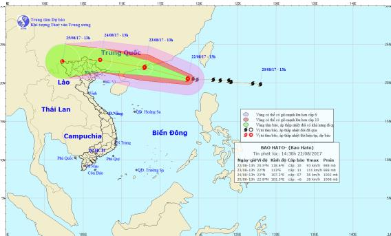 Dự báo thời tiết ngày 23/8: Bắc Bộ mưa to vì ảnh hưởng của bão số 6 - Ảnh 1