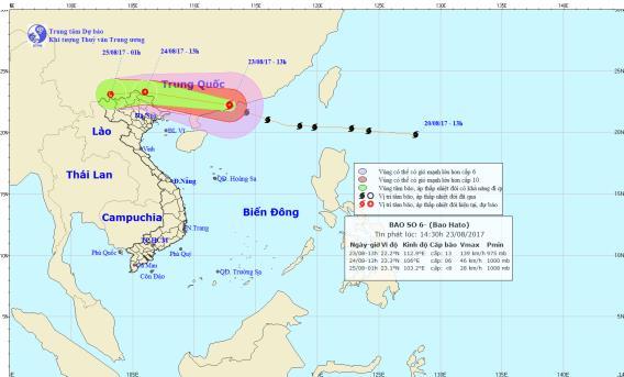 Dự báo thời tiết ngày 24/8: Bắc Bộ mưa to vì ảnh hưởng của bão số 6 - Ảnh 1