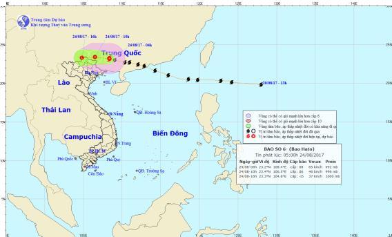 Diễn biến mới nhất về bão số 6: Đổ bộ vào đất liền, Bắc Bộ mưa lớn - Ảnh 1