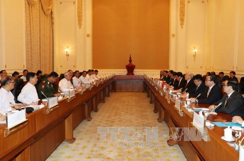 Myanmar và Việt Nam ký kết 4 văn kiện hợp tác - Ảnh 1