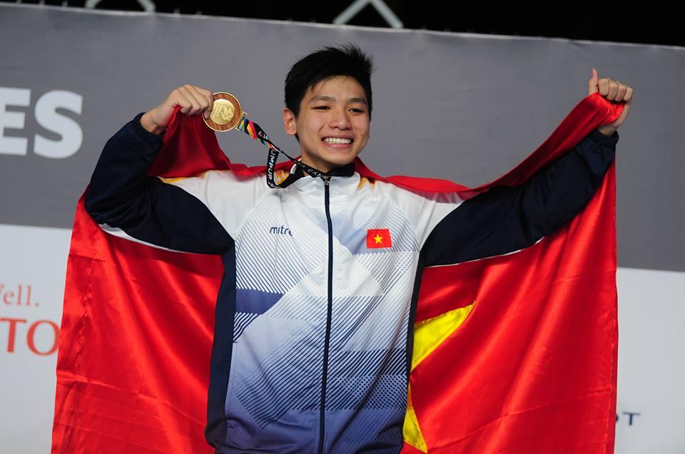 Kình ngư 15 tuổi Việt Nam đạt HCV, phá kỷ lục SEA Games tồn tại 14 năm - Ảnh 1
