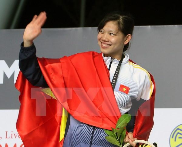 Ánh Viên đoạt huy chương vàng thứ 5, tiếp tục vào chung kết 2 nội dung bơi - Ảnh 1