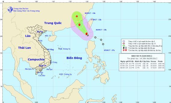 Dự báo thời tiết ngày 7/9: Bão giật cấp 10 tiến vào Biển Đông - Ảnh 1