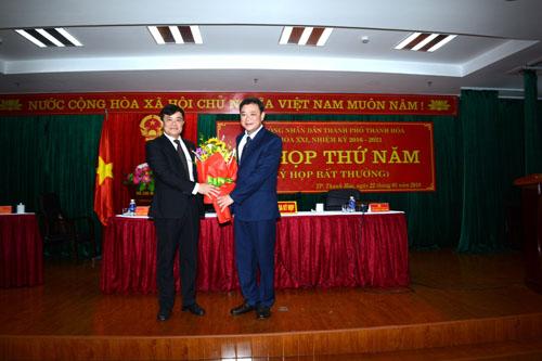 Bầu bổ sung chức danh Chủ tịch UBND thành phố Thanh Hóa - Ảnh 1
