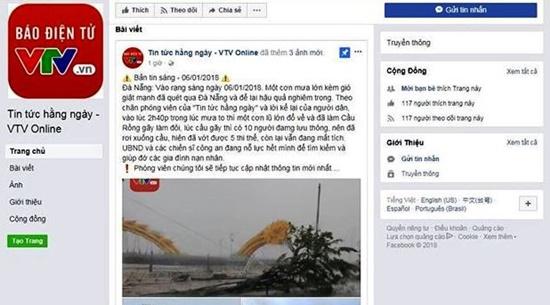 Đà Nẵng: Truy tìm người giả mạo Facebook VTV8 đăng tin thất thiệt - Ảnh 1