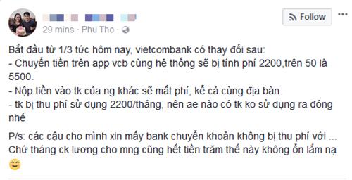 Vietcombank tăng phí SMS Banking lên 11.000 đồng, người dùng tính chuyển ngân hàng - Ảnh 4