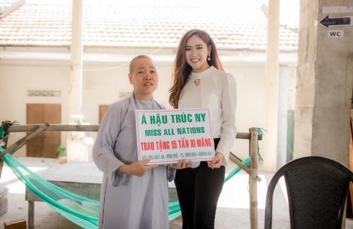 Á hậu Trúc Ny dành trọn tâm huyết với công tác thiện nguyện tại quê nhà - Ảnh 1