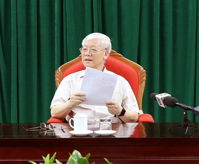 Tổng Bí thư, Chủ tịch nước Nguyễn Phú Trọng chủ trì họp lãnh đạo chủ chốt - Ảnh 3