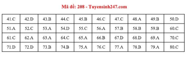 Đáp án môn Hóa học tất cả các mã đề THPT quốc gia 2019 chuẩn nhất, chính xác nhất (cập nhật) - Ảnh 8
